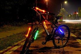 Lumini LED pentru biciclete SuperFlare - Roșu