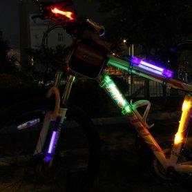 Lumini LED pe bicicleta SuperFlare - Albastru