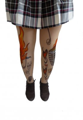Tattoo pantyhose - ED HARDY