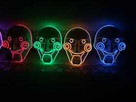 Consideraron la máscara iluminando - Verde