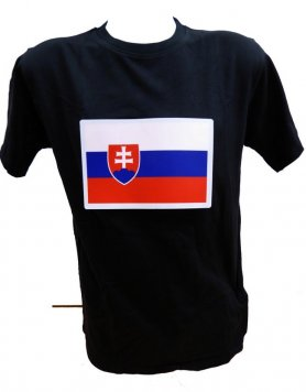 Led svietiace tričko so znakom Slovensko