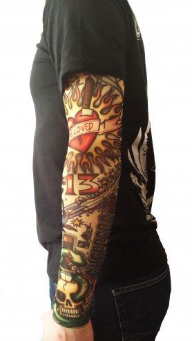 Tattoo rokavi - Stara lobanja