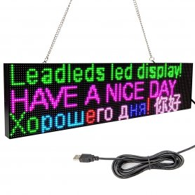Panneau LED RVB couleur publicitaire avec WiFi - tableau 52 cm x 12,8 cm