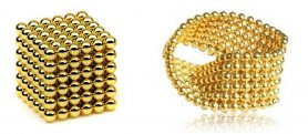 Neo cube balls - 5 mm gold