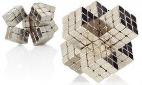Magnetické kostky - stříbrné