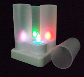 LED RGB кольорові свічки електричні з дистанційним керуванням