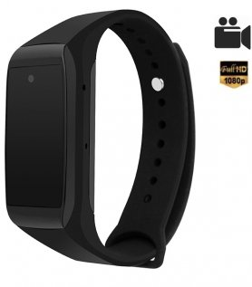 Bracelet sport avec caméra Full HD cachée et horloge