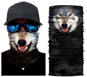 WOLF bandana - Foulards de protection multifonctionnels pour le visage et la tête