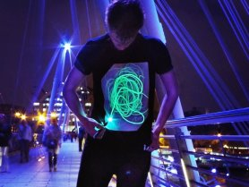 Interactive UV Laser T-shirt - draw your motif