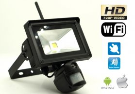 PIR wifi macchina fotografica con HD + Outdoor riflettore LED + motion detection