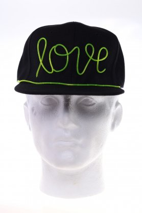 Disco cap Love - green