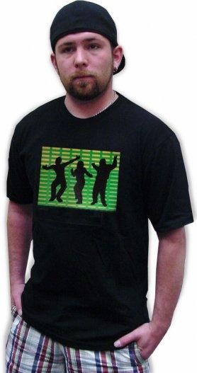 Led el t-shirt - Dance green