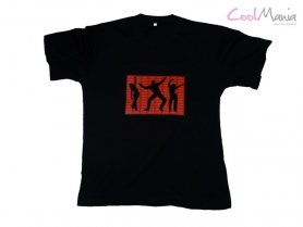 Sound activated t shirt - Dance red