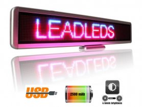 LED display with scrolling text in 3 colours - 56 cm x 11 cm