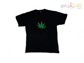 Camiseta led - Cannabis