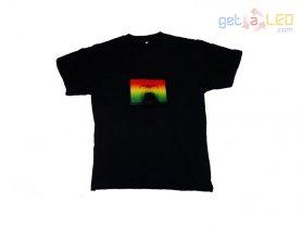 T-shirts clignotant - Explosion de la musique