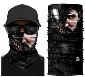Sciarpa multifunzionale sul viso o sulla testa - passamontagna VENOM