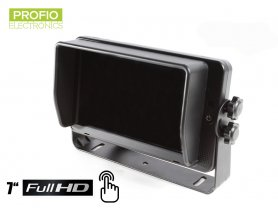 "Touch 7 ""HD monitor per telecamere di retromarcia + 4 ingressi FULL HD"