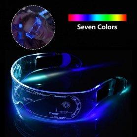 Ochelari de petrecere cu LED (transparente) CYBERPUNK - schimbarea culorii