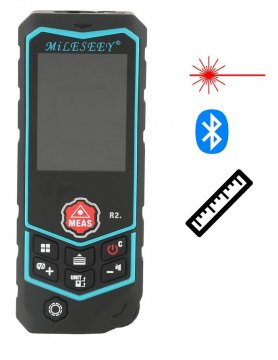 Laser digital distance meter with Bluetooth and IP65