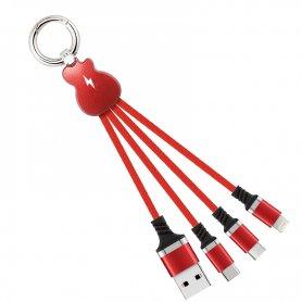 Універсальний 3V1 USB зарядний кабель - Micro USB, Блискавка, USB-C