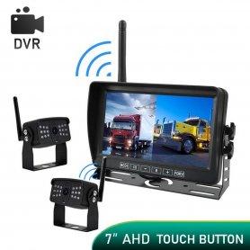 """WiFi ย้อนกลับชุด AHD พร้อมบันทึกเป็น SD - 1x AHD wifi กล้อง IP69 + 7"""" LCD DVR monitor"""
