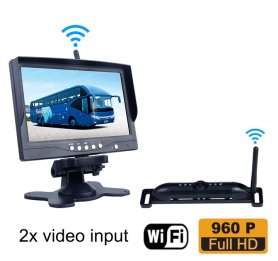 "WiFi reversing camera kit - 7"" monitor + FULL HD car camera with 5x IR LED for night vision"