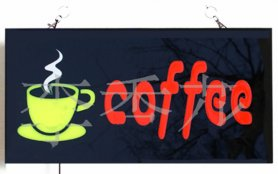 "Panou LED publicitar ""COFFEE"" 43 cm x 23 cm"