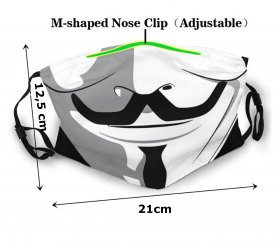 Face mask - 100% polyester Anonymous (VENDETA)