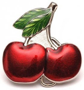 Belt buckle - Cherries
