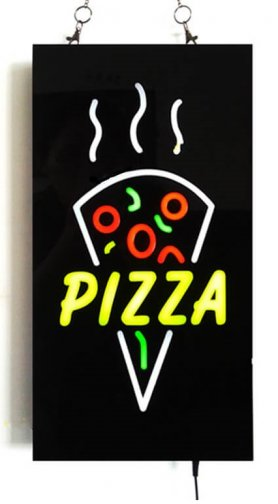 "Promotional LED sign ""PIZZA"" board 43 cm x 23 cm"