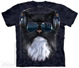 Batik shirt - Crazy cat