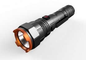 Tactical flashlight 950 Lumen + RGB colors + rechargeable