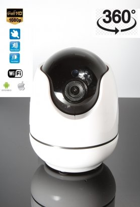 Security WiFi FULL HD camera with night IR LED + 360 ° rotation angle and Intelligent tracking