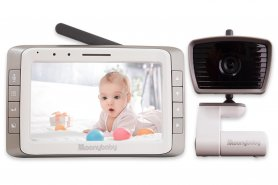 "Video baby monitor with 5"" LCD + IR LED with two-way communication"