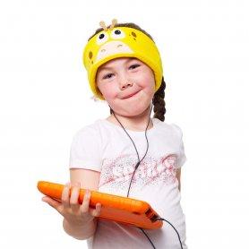 Vicces gyerek fejpánt fejhallgatóval - Zsiráf