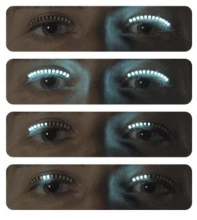 LED lashes - LED strip on the eyelid