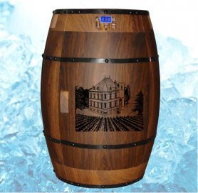 Wine cooler in the shape of barrel - 40 liters/15 bottles