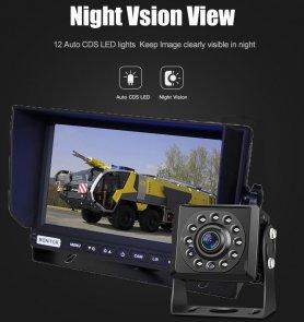 ตั้งค่ากล้องจอดรถ AHD พร้อมบันทึกลงในการ์ด SD - กล้อง HD 1 ตัว + จอภาพ AHD ไฮบริด 7 นิ้ว 1 ตัว