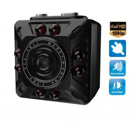 Mini compact FULL HD camera with motion detection + 8 IR LEDs