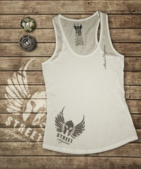 Women GDR singlet - white