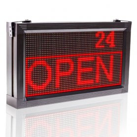 LED Info Panel 52 cm x 28 cm - vörös