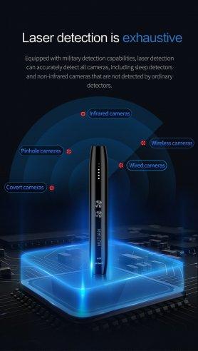 Rejtett kamerák lézeres toll érzékelője + GSM és WiFi hallgató eszközök
