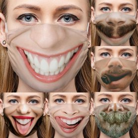Funny face masks 3D protective - BIG MOUTH