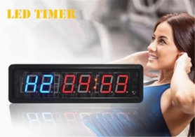 Cronometru cu intervale LED pentru utilizare sportivă - 34,5 cm x 10 cm