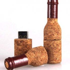 Смішний USB-ключ - Винна пляшка з пробки