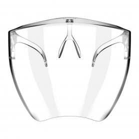 Polycarbonate protective full face mask with a grip onto the nose