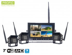 "Telecamera per la retromarcia con display wireless AHD WiFi SET 1x monitor AHD 7 ""+ 3x videocamera HD"