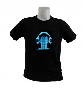 LED T-shirt - Cuffie