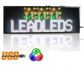 Panoul afișat cu LED-uri promoționale 76 cm x 27 cm - 7 culori RGB